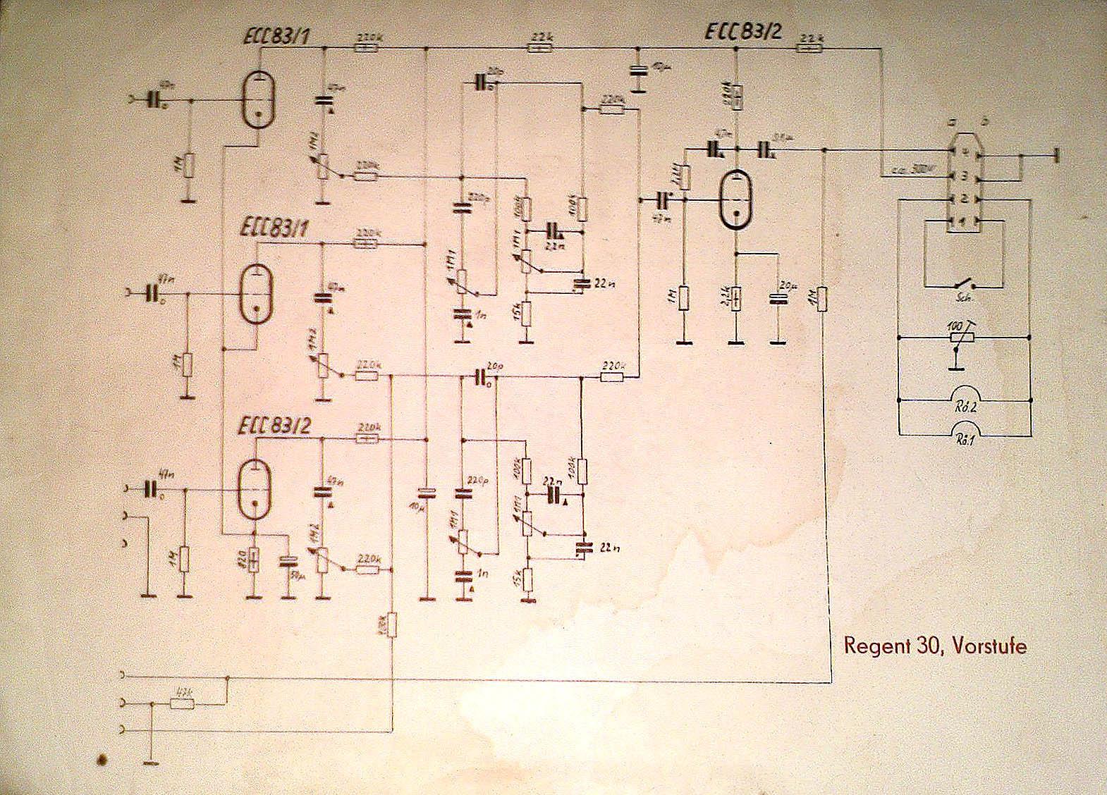 Схема лампового усилителя регент